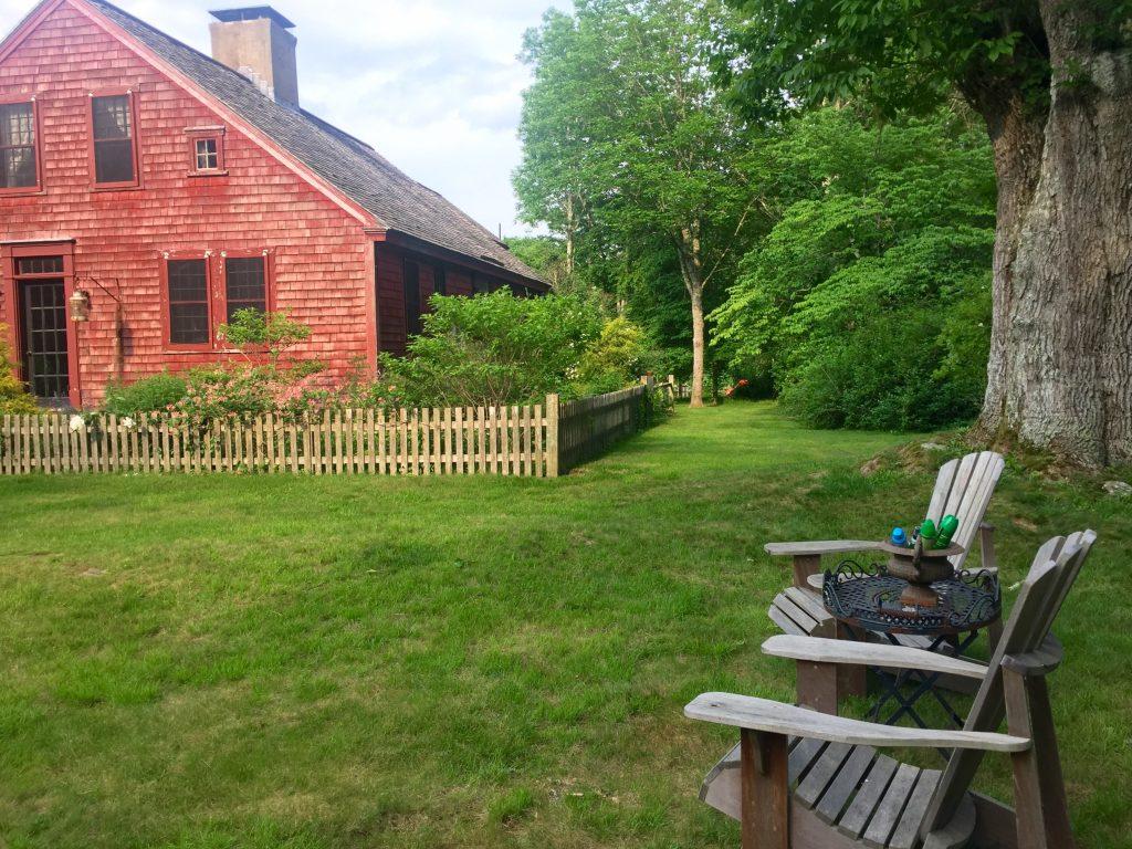 Just Right Farm Plympton MA  kallista red farm house
