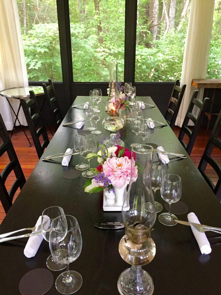 Just Right Farm Plympton MA  kallista dining