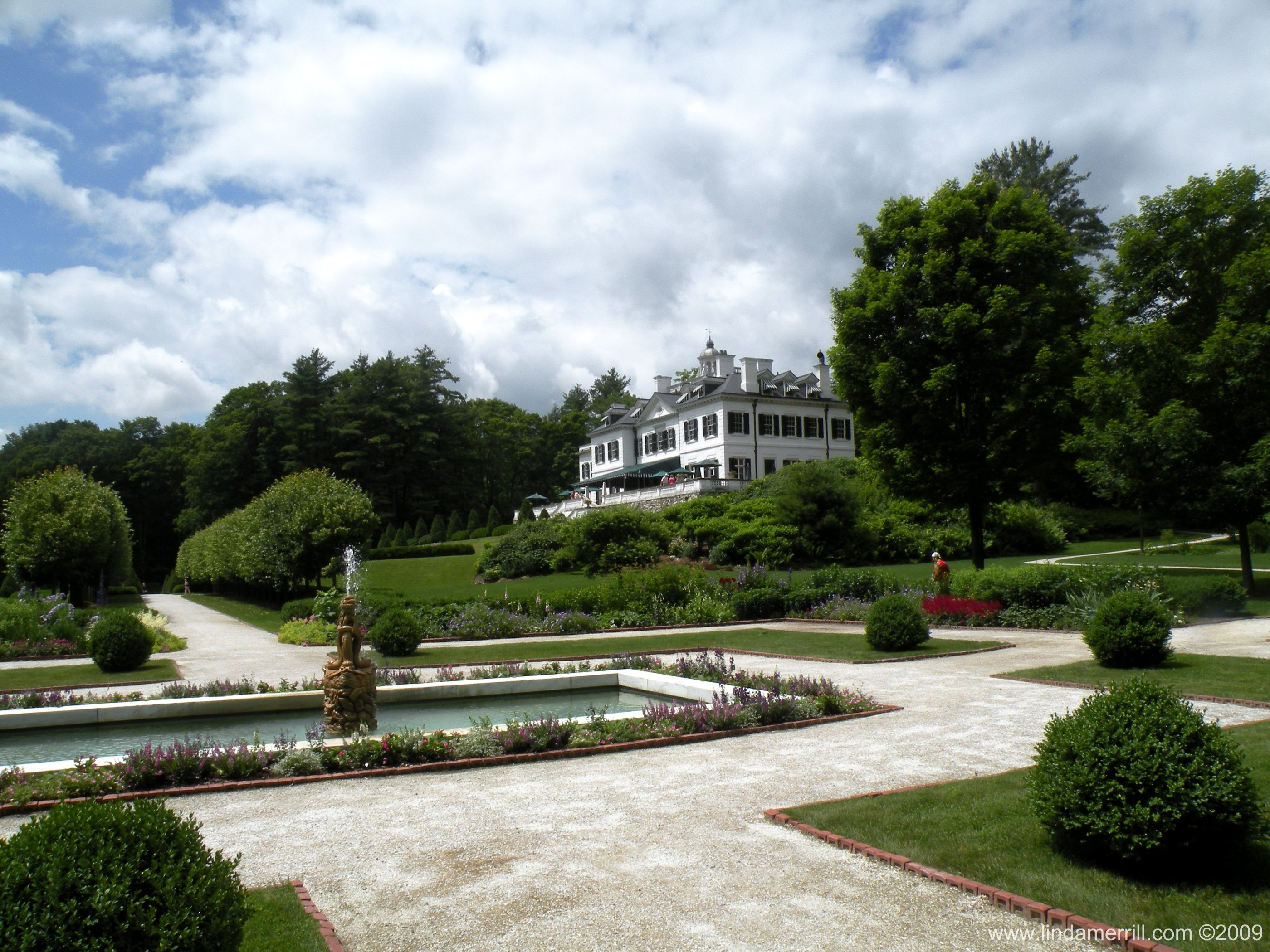 Edith Wharton The Mount view of house from gardens