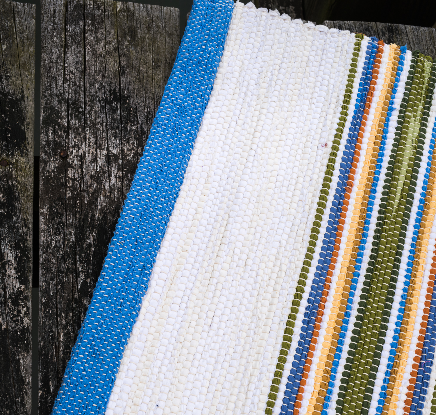 Newport Rug Coastal Collection blue and white handwoven rug detail 1