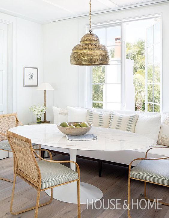 Photographer Jessica Glynn | Designer Ashley Waddell Courtney Whatley dining banquettes settees