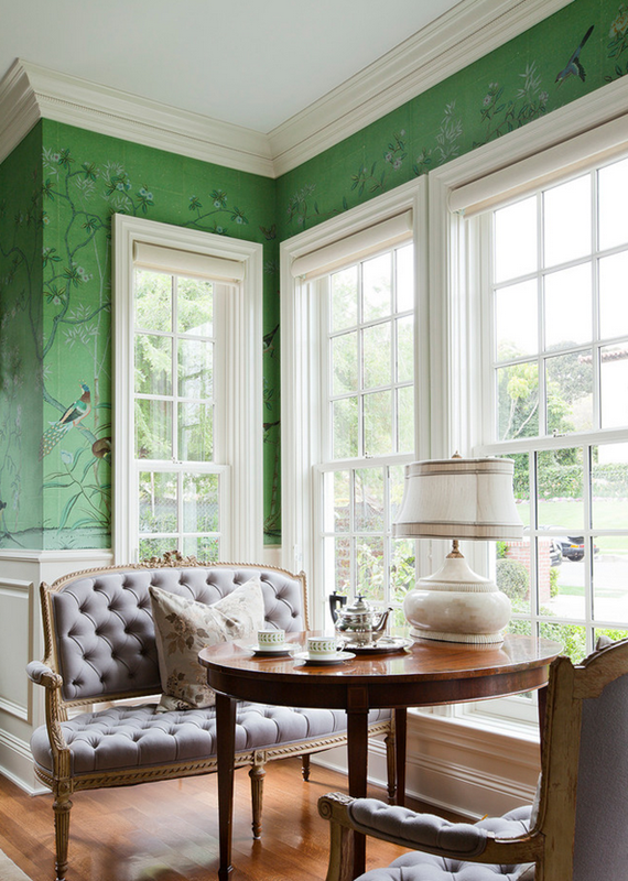 Burdge Associates architecture green-chinoiserie-wallpaper-de-gournay Sharp Objects