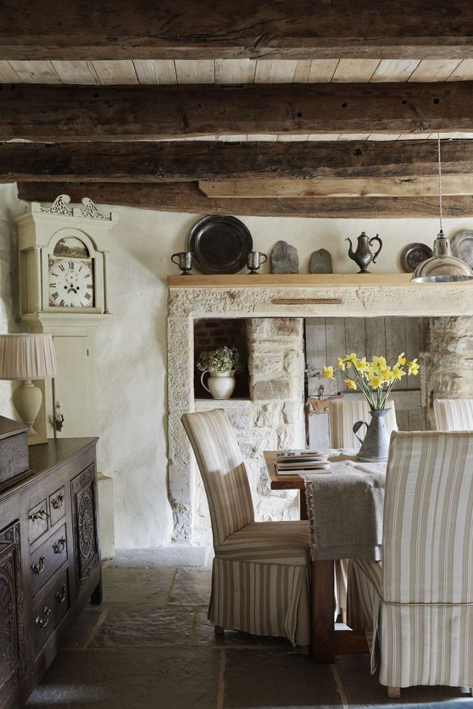 Tudor stone cottage bastle photography Brent Darby dining room charming stone cottage