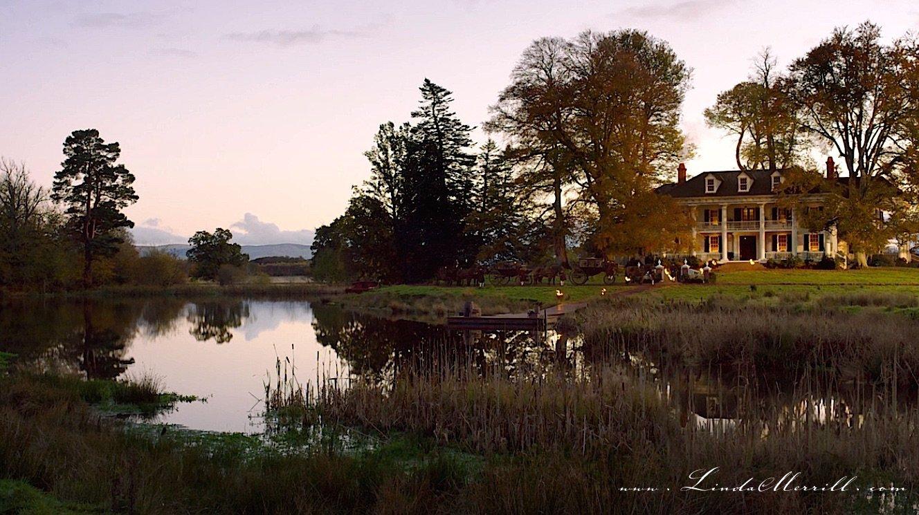 Outlander River Run exterior river evening party