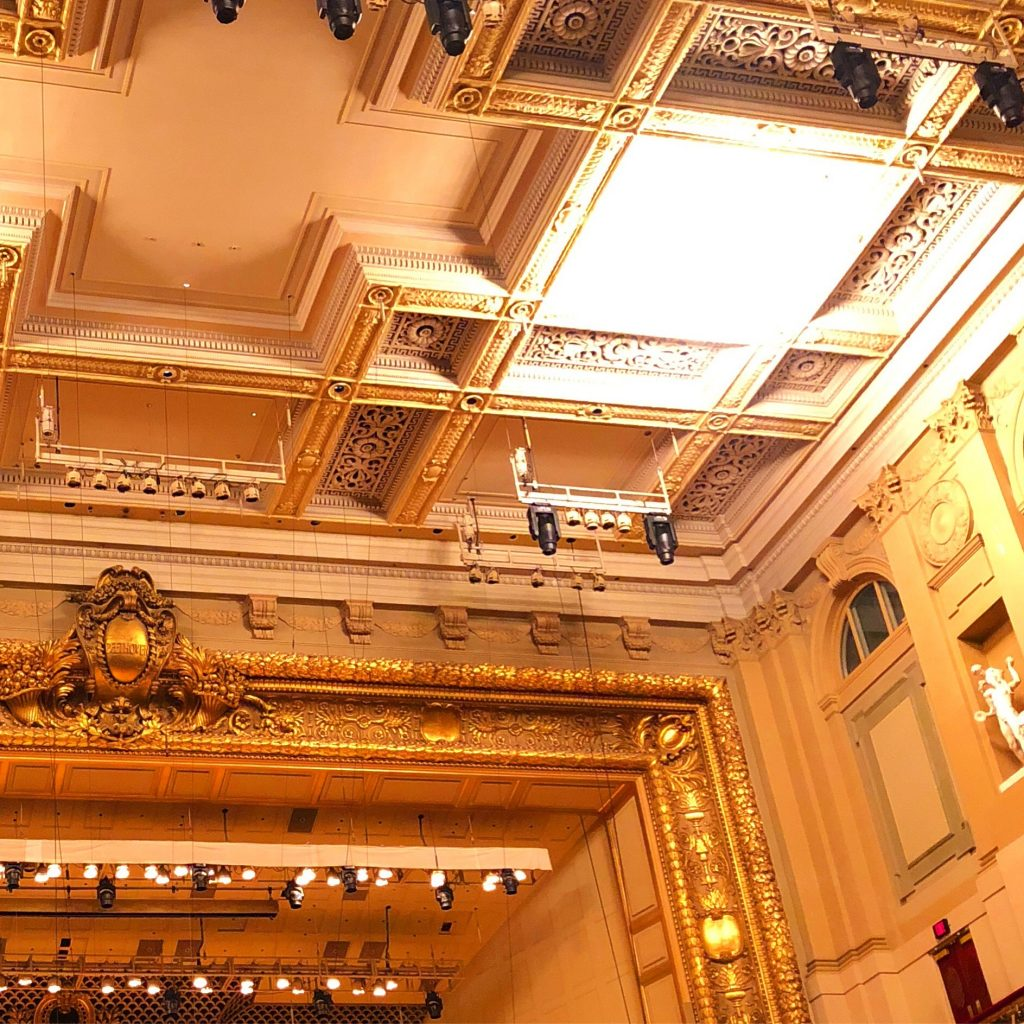 Boston Symphony Hall ceiling 1 Boston Design Week 2019