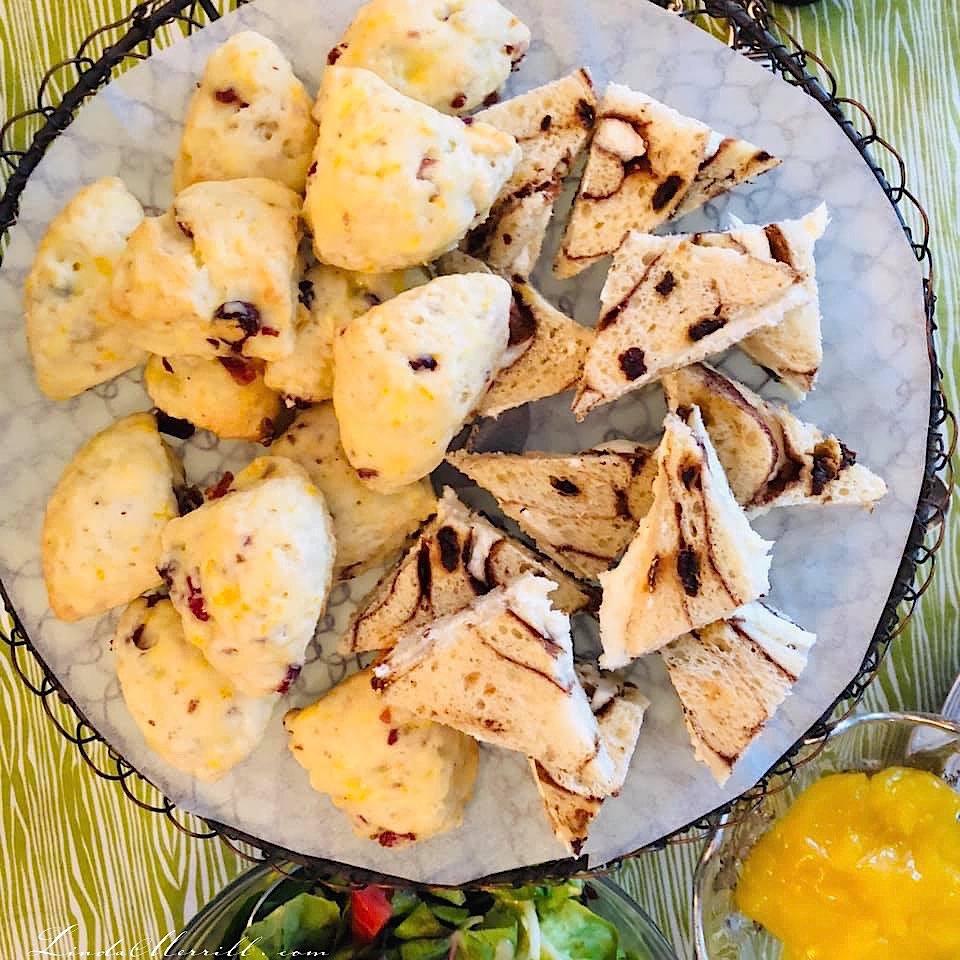 Linda Merrill Ladies High Tea scones and tea sandwiches