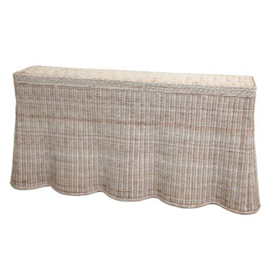 Mainly Baskets Scallop Console wicker Spring 2019 trends