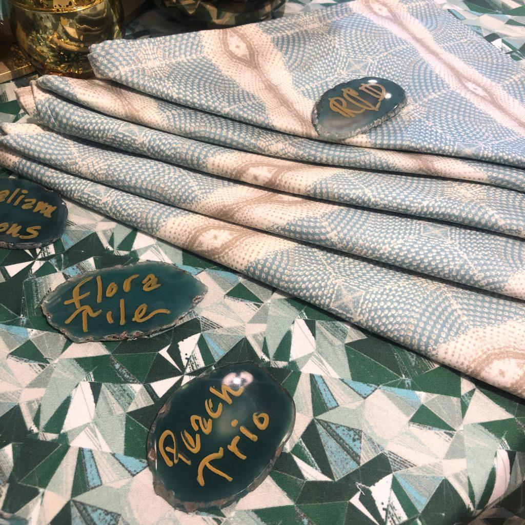 Root Cellar Designs Prism Cut and Glam Stripe fabrics Spring 2019 Trends