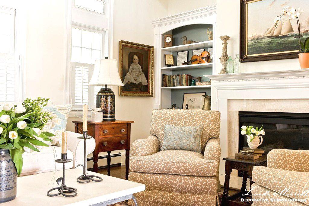 Linda Merrill Decorative Surroundings living room family heirlooms