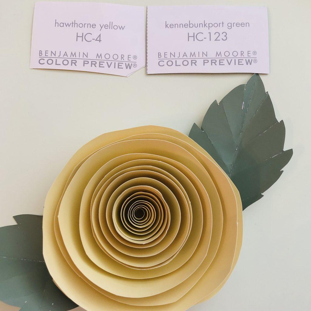 Linda Merrill ranuncula and leaves paper flowers