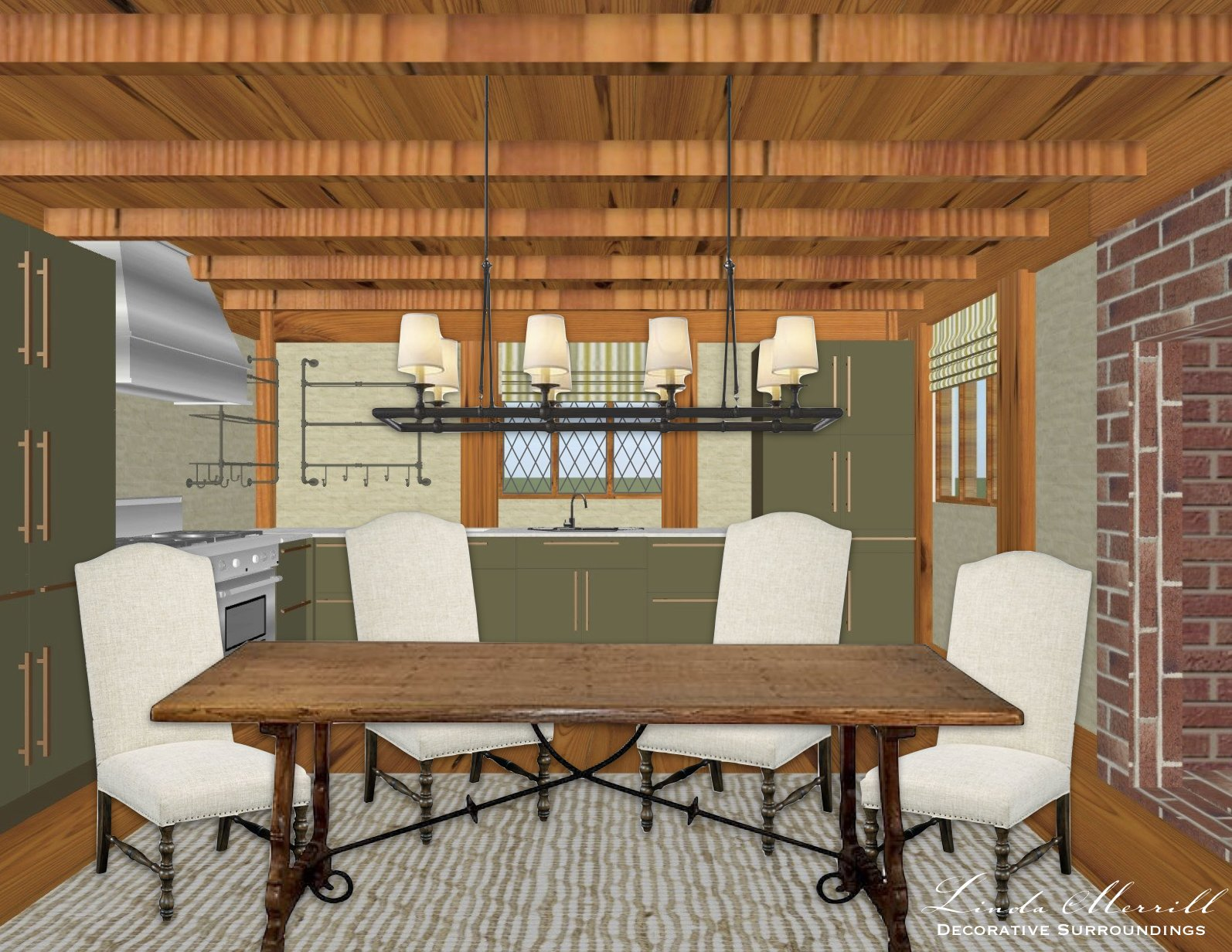 Linda Merrill Modern Living in Antique Houses Kitchen Decorating