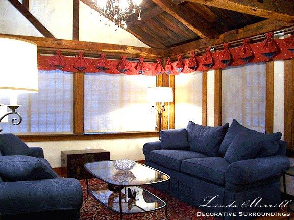 Linda Merrill design antique sitting room Duxbury 02332