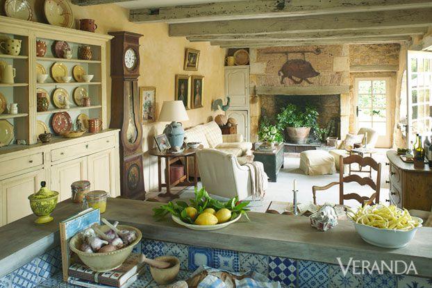 Marston Luce antiques design Dordogne france Veranda farmhouse sitting room