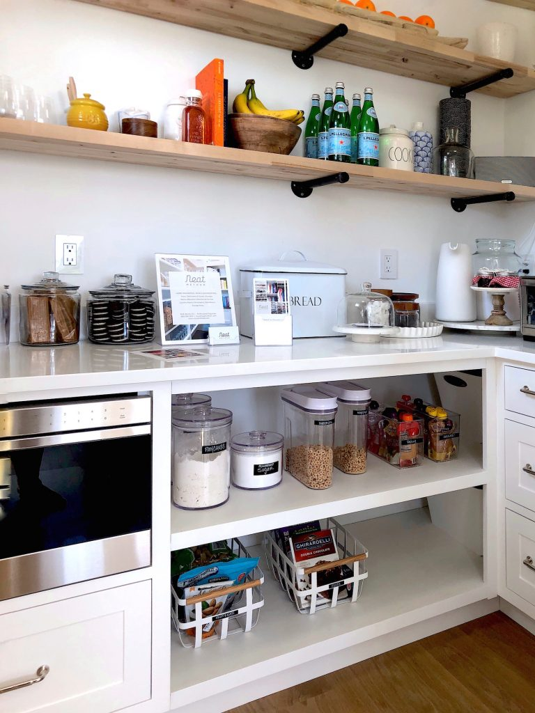 163 High Rd Newburyport Kitchen Tour 2019 Modern Black and White Pantry closet LMM