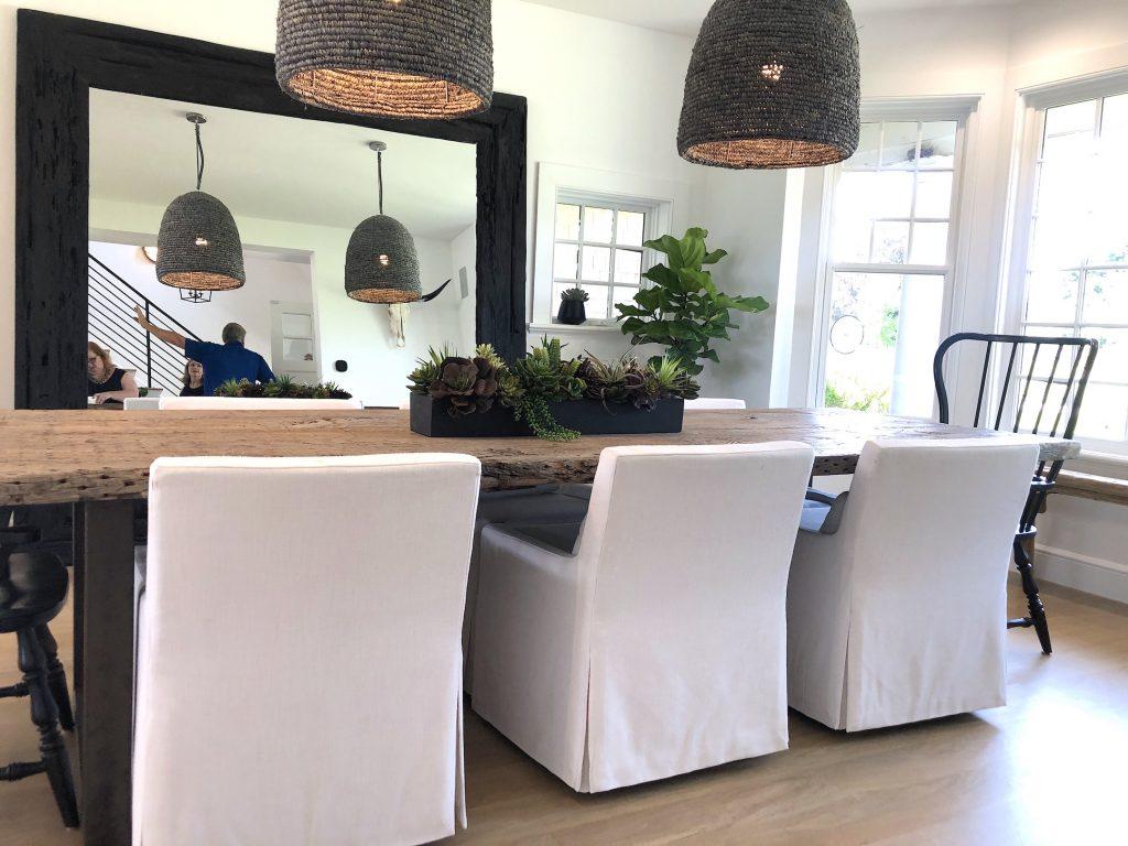 163 High Rd Newburyport Kitchen Tour 2019 Modern Black and White Dining Room 1 LMM