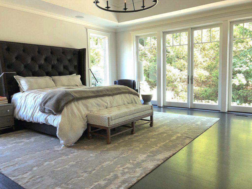 8 Wilshire Rd Newburyport Kitchen Tour 2019 Modern Black and White Master Bedroom bed LMM