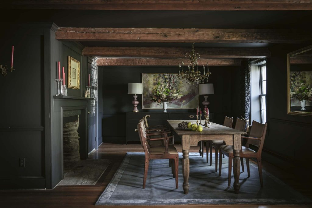 Farrow & Ball Recipes for Decorating Black dining room
