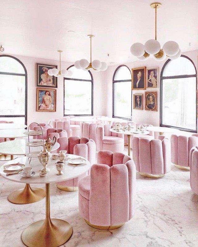 Garrison Inn Ladyfinger Lounge Pink velvet Old World hospitality