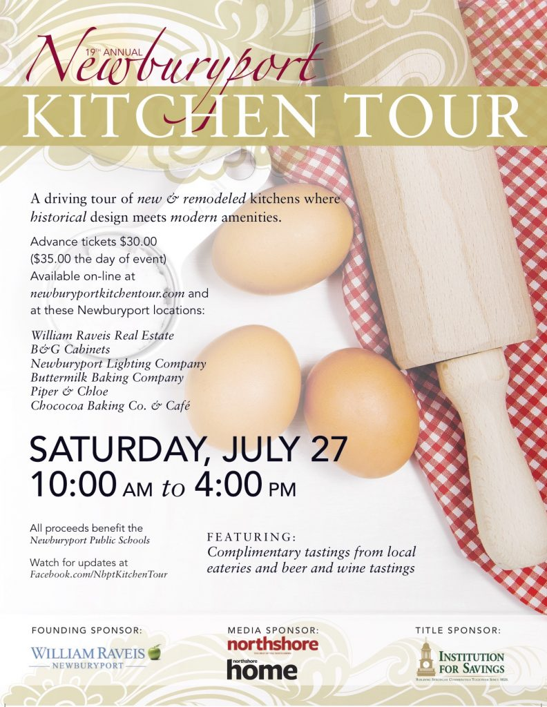 Newburyport Kitchen Tour 2019 preview flyer
