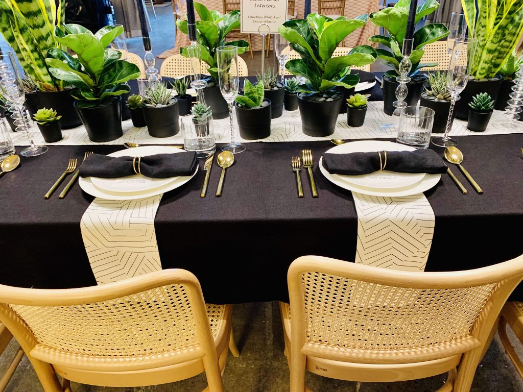 Designer Beebe Parker Interiors Heading Home to Dinner 2019 Beautiful Tablescapes place settings
