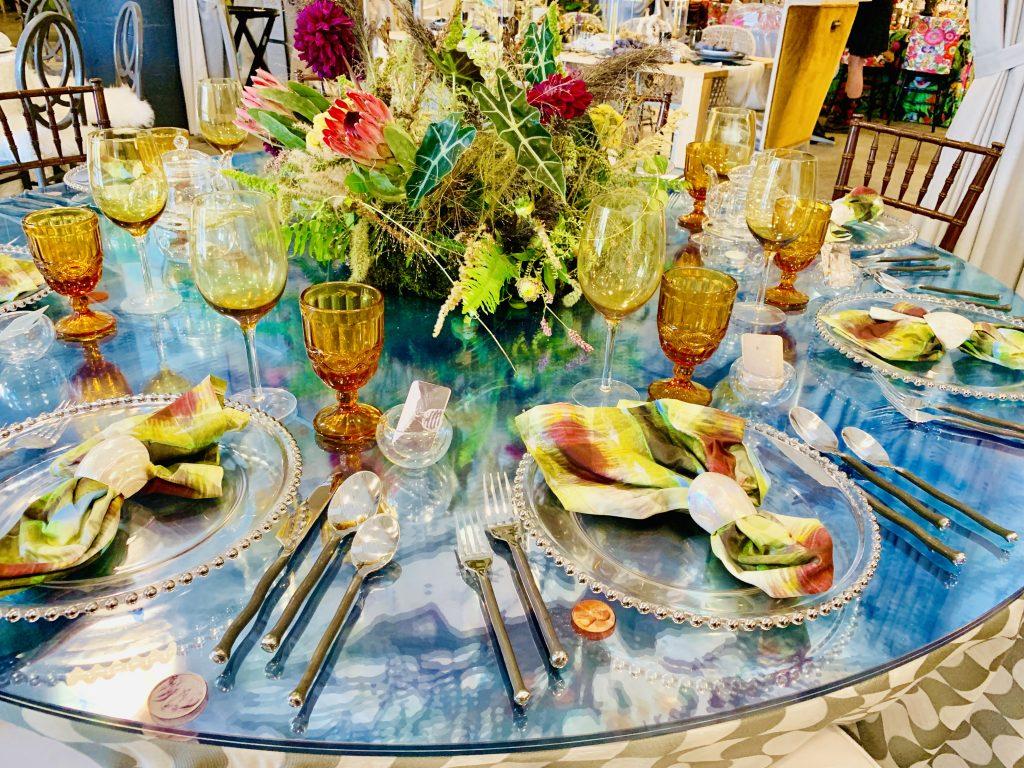 Designer Dane Austin Andy Staszak Heading Home to dinner 2019 table scape