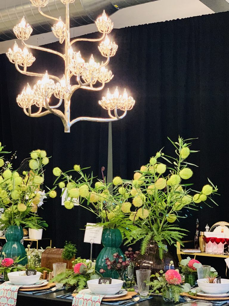 Designer Kelly Rogers Heading Home to dinner 2019 table chandelier