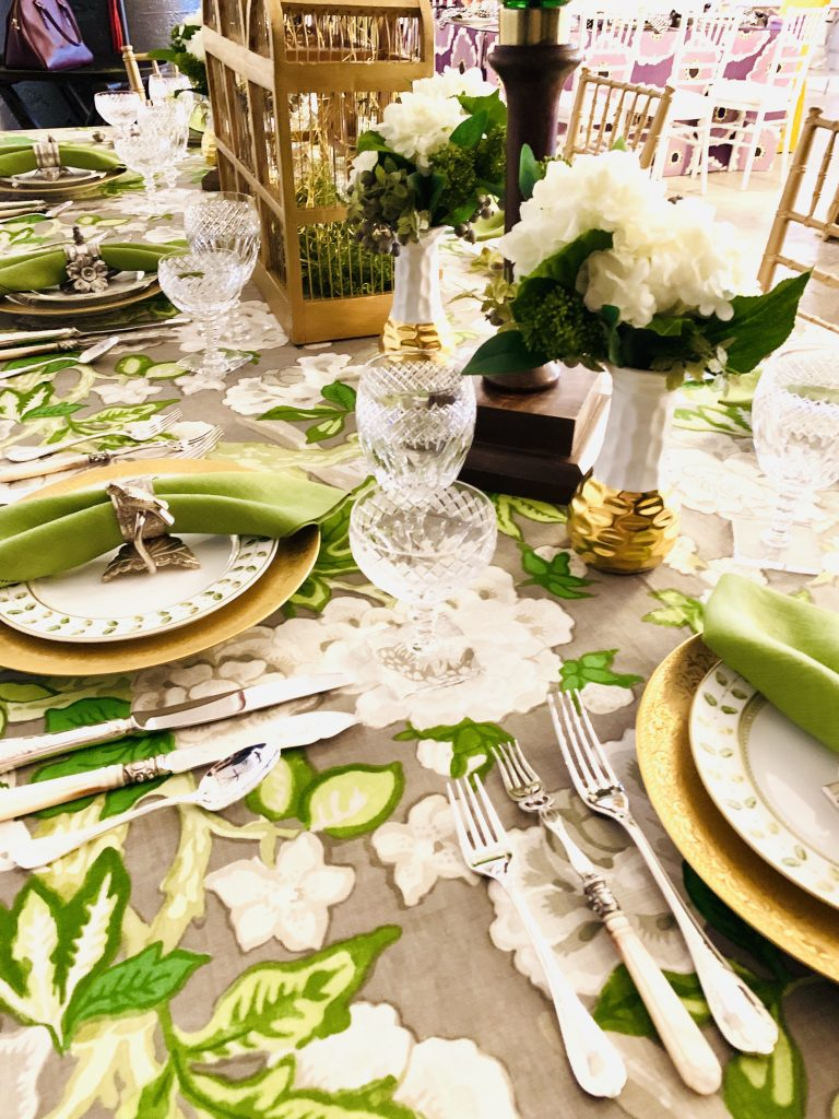 Designer Linda Weisberg Heading Home to Dinner 2019 beautiful tablescapes 2