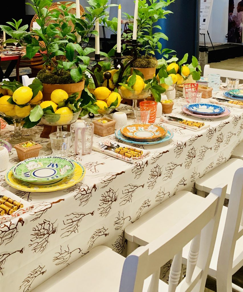 Designer Mally Skok Heading Home to Dinner 2019 Positano tablescape
