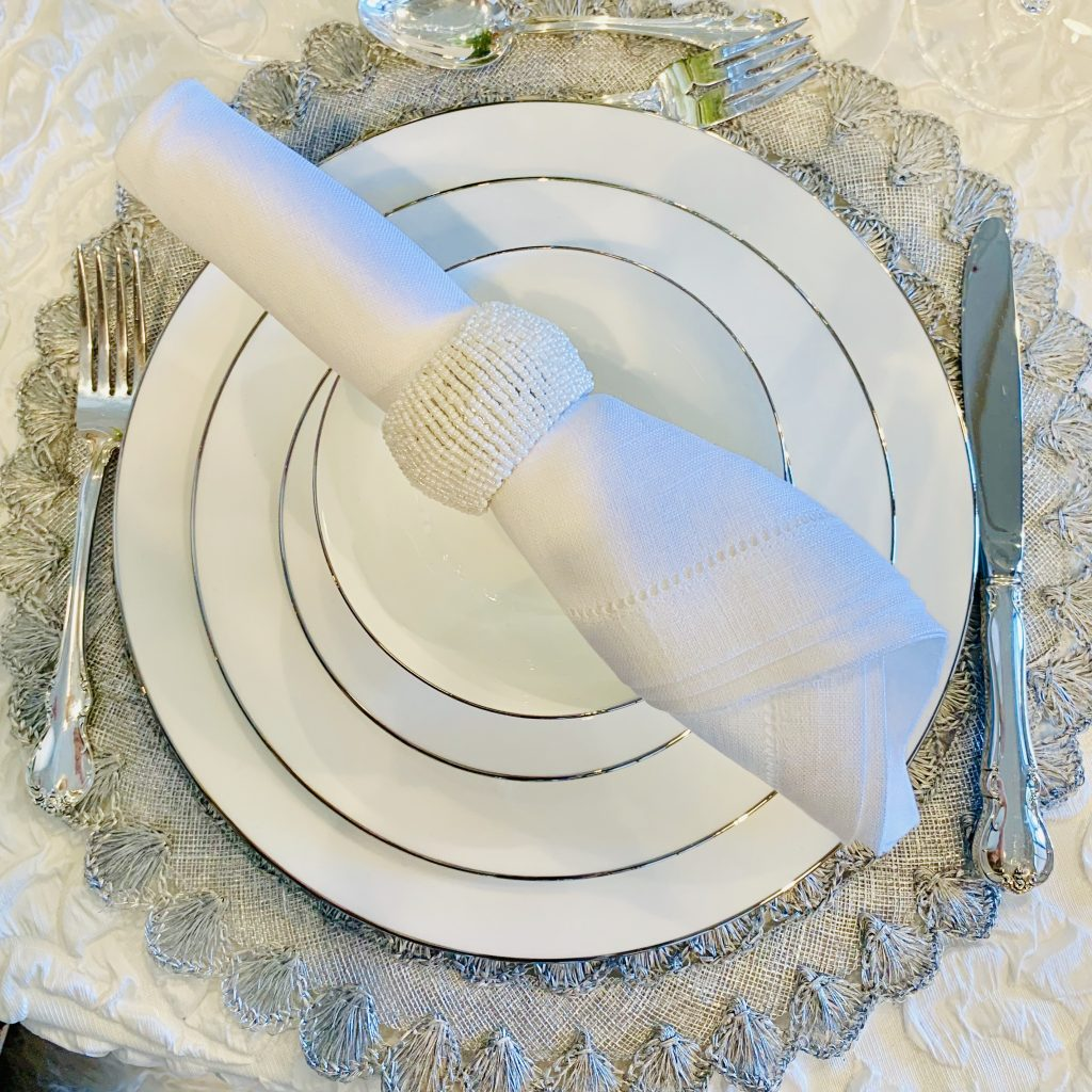 Designer Tanya Capello Heading Home to dinner 2019 place setting