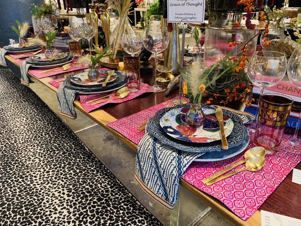 Designer Vivian Robins Johnny Geraghty Heading Home to dinner 2019 beautiful tablescapes