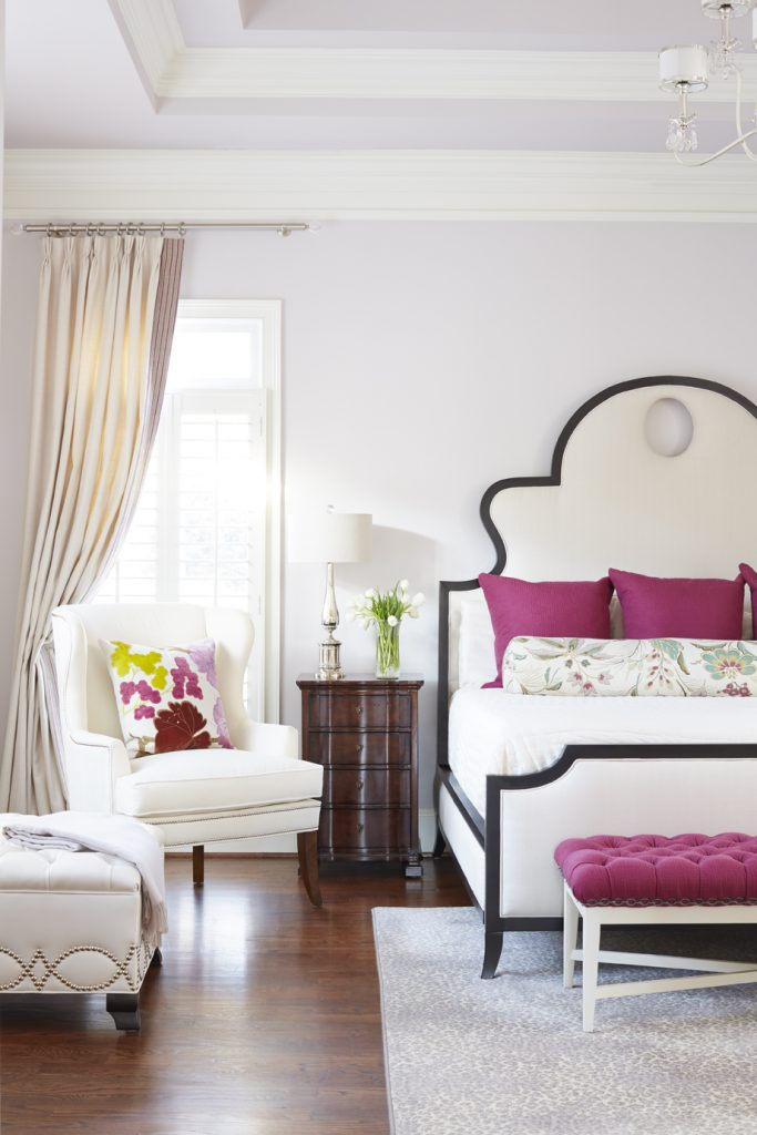 Kristin Drohan Collection designer collections Denise Bed, Leigh Wing, Brayton Bench, Celine Ottoman