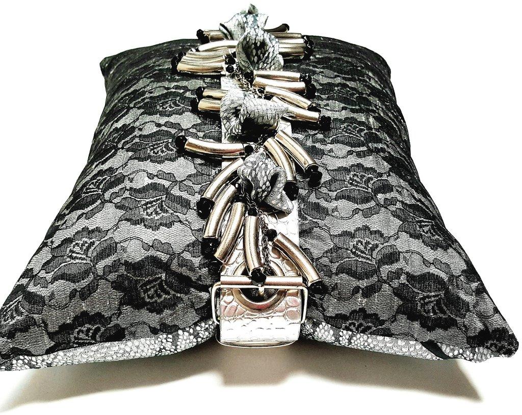 he Jett textile pillow Deborah Main The Pillow Goddess Designer Collections