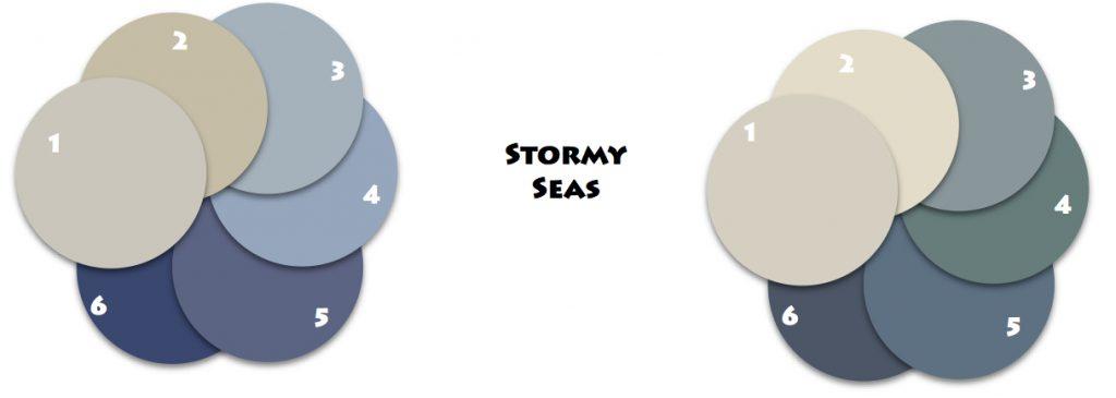Stormy Seas Classic Coastal Colors