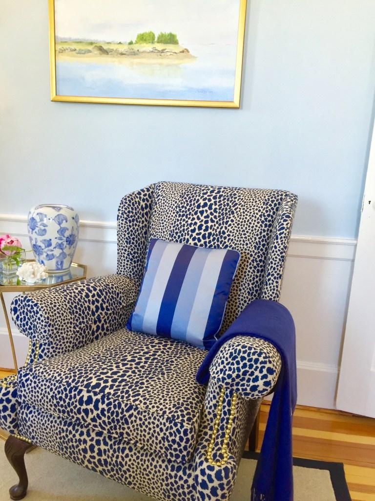 Gia Interior Design living room Photo by Linda Merrill classic coastal colors