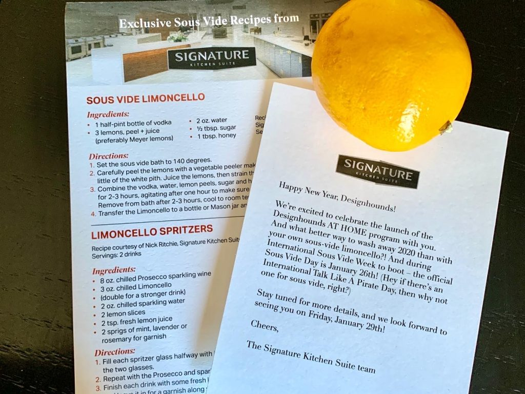 Signature Kitchen Suite Sou s Vide recipies