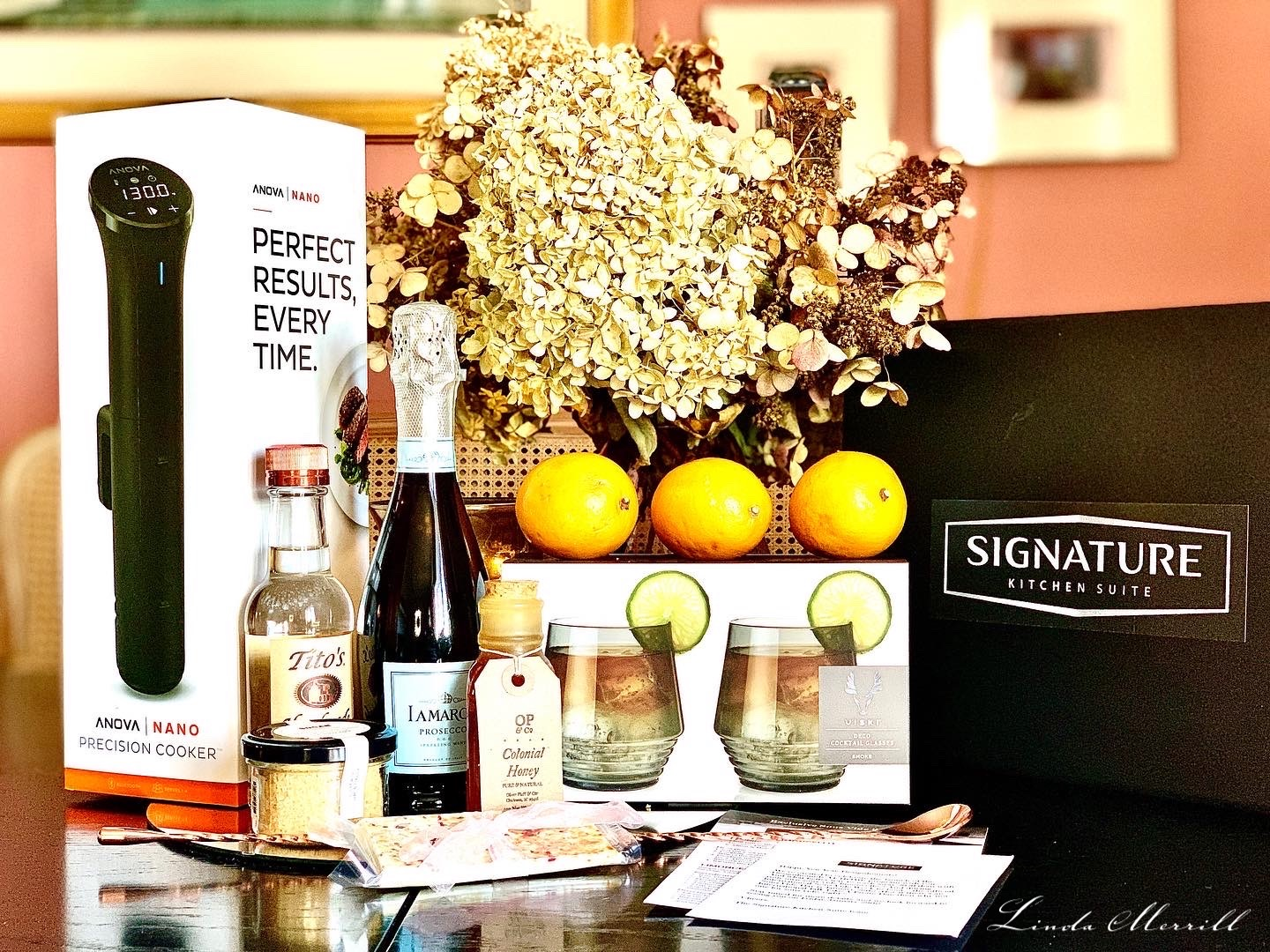 Signature Kitchen Suite Sous Vide cocktail kit linda merrill