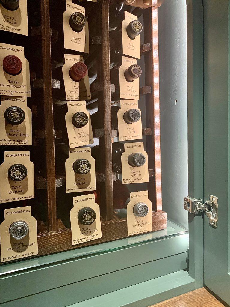 Linda Merrill custom Sudbury Wine Cabinet interior
