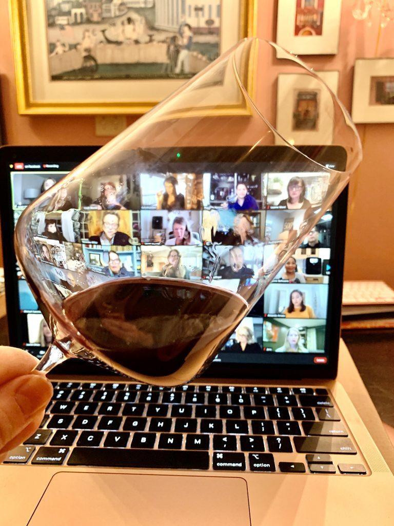 Plum Wine Perus Wine in a glass Linda Merrill
