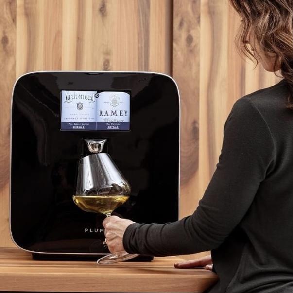 Plum Wine dispenser Linda Merrill