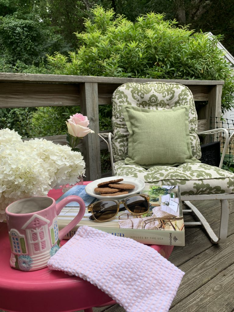 Linda Merrill nook cottage back deck renovating have patience